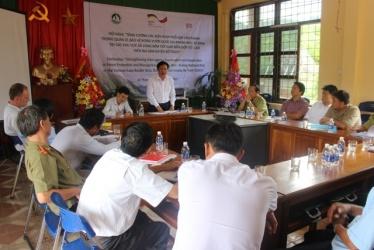 """Hội nghị """"Tăng cường các biện pháp phối hợp liên ngành trong quản lý, bảo vệ rừng VQG PN-KB tại các khu vực xã vùng đệm tiếp giáp biên giới Việt – Lào"""